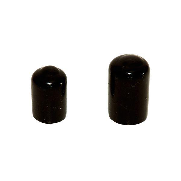 pvc endkappe weich 3 mm innendurchmesser 10 st ck schwarz. Black Bedroom Furniture Sets. Home Design Ideas