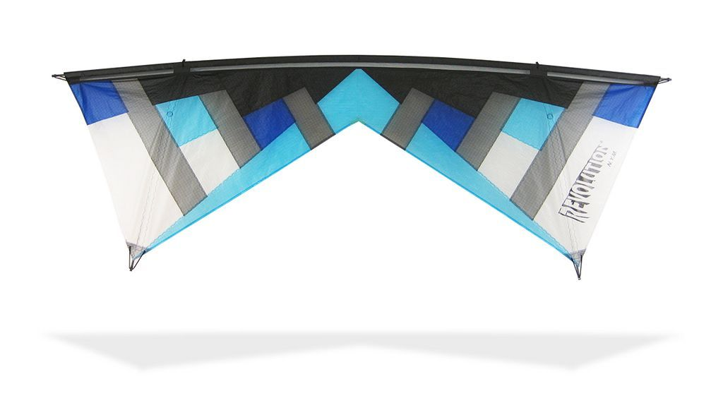 Revolution NYM 1.5 with Reflex (Standard) Vierleiner-Lenkdrachen/Stabdrachen (4-Leiner) KITE ONLY - 236 cm x 79 cm blues