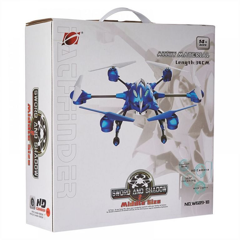 Helicopter HEXACOPTER Modell W609-10 rot 28 x 28 x 12 cm blau HD-Kamera 6 Achsen-GYRO 2.4 GHz 4.5-Kanal