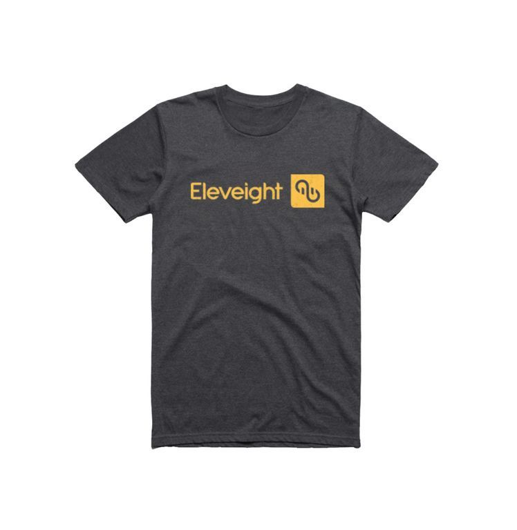 "Eleveight  T-Shirt ""Brand"" dunkelgrau/dark grey M"