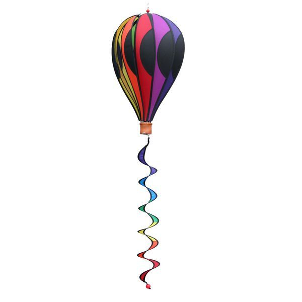 Elliot Balloon - Point hängendes Windspiel, 50 x 28 cm (Ballon), 5 x 5 5 cm (Korb), 10 x 65 cm (Spirale), rainbow
