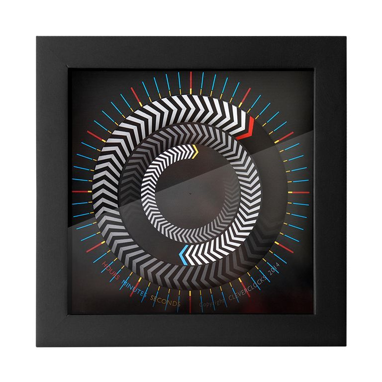 CleverClocks - moderne dekorative Design-Tischuhr/Wanduhr, Arrows