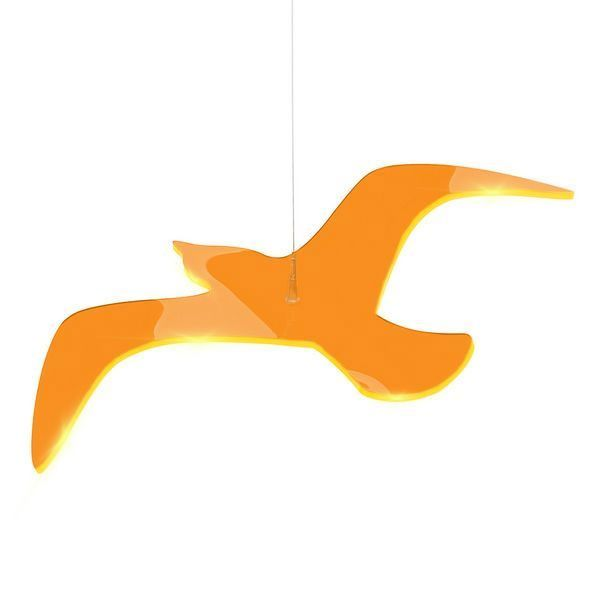 "Elliot Lichtzauber - Sonnenfänger Vogel ""Wing"", Magic, 38 cm gebogen, orange"