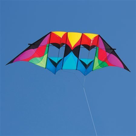 Into The Wind - Stratosphere Double DC Einleiner-Drachen (1-Leiner) 315 cm x 101 cm, rainbow