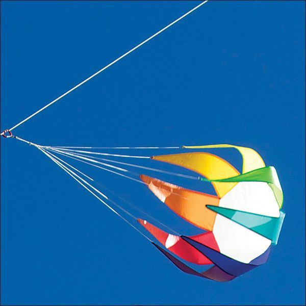 Into The Wind - Spinning Star Large - 3D-Motiv-Windsack  (Leinenschmuck/Windfänger), 58 cm x 84 cm, rainbow