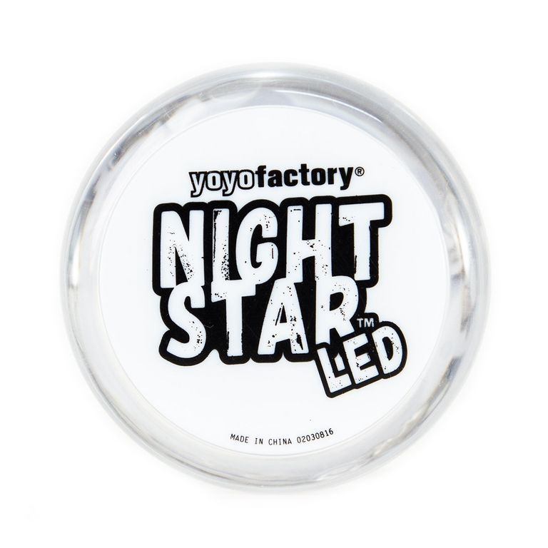 YoYoFactory NIGHTSTAR - LED Light Up -  YoYo für Beginner und Fortgeschrittene Ø 57 mm B 35 mm 59 g transparent