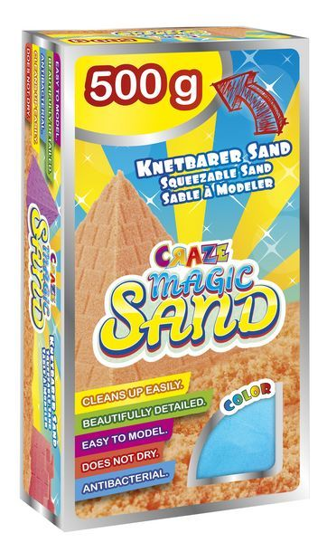 Craze Magic Sand - Refill-Pack, 500 g, rot, gelb, blau, grün, pink, orange