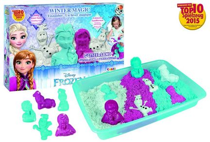 "Craze Magic Sand -  ""Frozen""-Set 600 g Magic Sand Spielwanne und Set Sandförmchen 4 Farben"