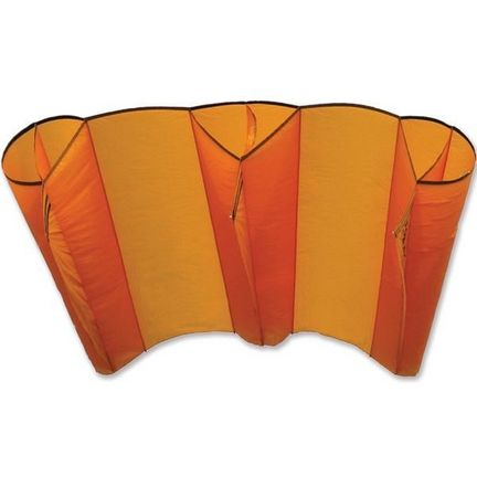 Premier Kites Mega Power Sled Kite Mango -  stabloser Einleiner-Lenkdrachen (Lifter/1-Leiner) KITE ONLY - 452 cm x 210 cm orange