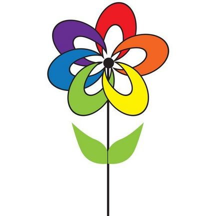 Windrad/stehendes Windspiel Blume Magic Rainbow Rotordurchmesser 28 cm x 45 cm rainbow