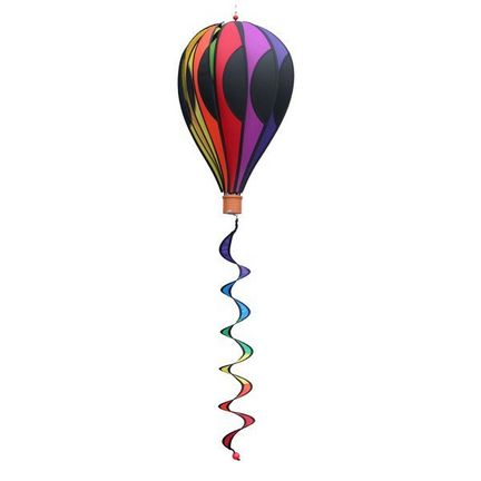 Elliot Balloon - Point hängendes Windspiel 50 x 28 cm (Ballon) 5 x 5,5 cm (Korb) 10 x 65 cm (Spirale) rainbow