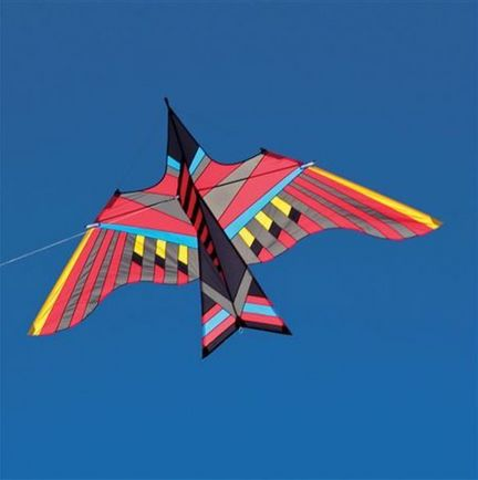Into The Wind - George Peters* Cloud Bird AHI Einleiner-Drachen (1-Leiner), KITE ONLY - 294 cm x 170 cm, rot/bunt