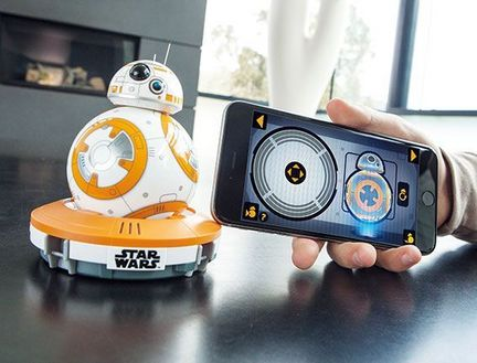 "Sphero 2.0 - BB-8 - ""STAR WARS"", 11 cm x 7 cm, weiß/orange, - Smartphone gesteuerter Trick Ball"