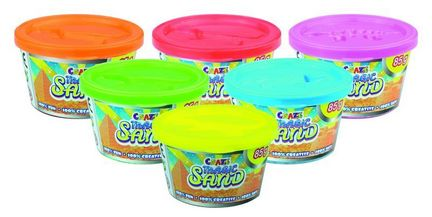 Craze Magic Sand - Starter Dose, 85 g, rot, gelb, blau, grün, pink, orange