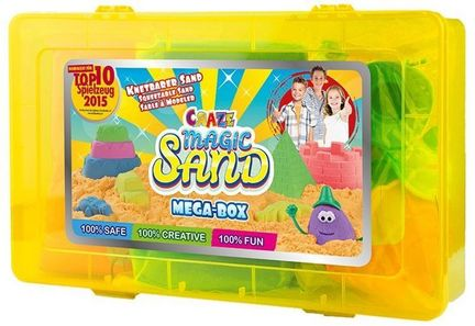 Craze Magic Sand - Mega-Box, 2 x 350 kg Magic Sand, Sandförmchen und Zubehör-Set