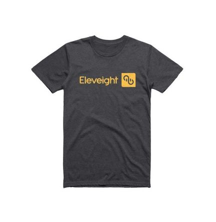 "Eleveight  T-Shirt ""Brand"" dunkelgrau/dark grey XXL"