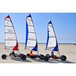 BeachCruiser Segel für Strandsegler 3.0qm weiß/rot