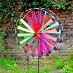 Windrad/stehendes Windspiel gegenläufig Pair 50- Ø 50cm rainbow