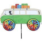 Windspiel stehend - VW Bus Ø 25cm 91cm x 45cm grün/bunt
