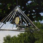 Elliot Lichtzauber -  Metallwindspiel hängend Edelstahl-Dreieck mit