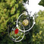 Elliot Lichtzauber -  Metallwindspiel hängend Edelstahl-Planetensystem