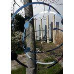Elliot -  Metallwindspiel hängend Edelstahl-Planetensystem groß 39cm