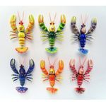 3D-Deko-Wackel-Magnete Lustiger Hummer/Funny Lobster, Crazy Ocean Life
